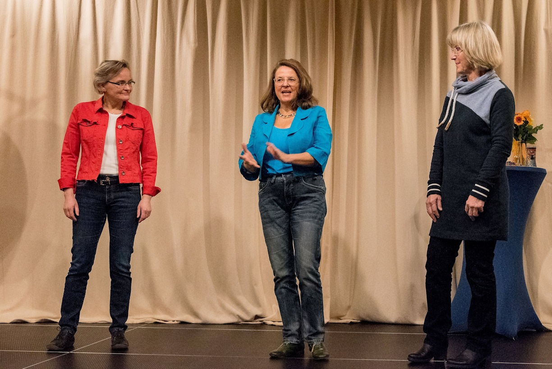 Dorothea, Sybilla und Brigitte freuen sich gemeinsam auf die Beiträge!
